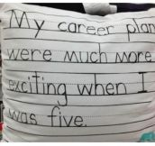 My career plans back then…