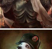 Historical figures as cats and dogs…
