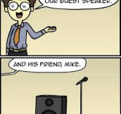 The guest speaker and his friend…
