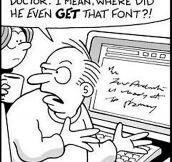 Doctor font…