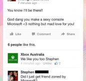 Friendzone level: Microsoft…