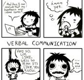 Written vs. verbal communication…