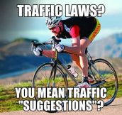 Cyclists on the road…