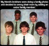 An extra 'family member'…