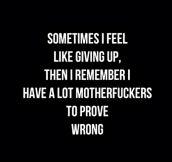 When I feel like giving up…