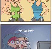 Marathon time…