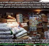 Portland gamer's raise over 35k pounds of food but the news says nothing…