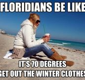 Winter in Florida…