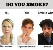 Smoke what…