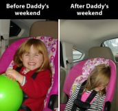 Daddy's weekend…