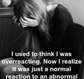 Traumatic realization…