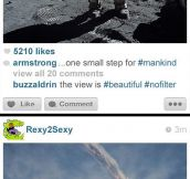 What history would look like if it was posted on Instagram…