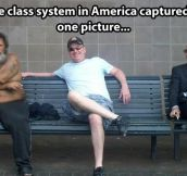 The class system in America…