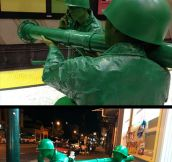Homemade army men…