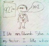 I like Mrs. Edwards…