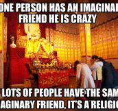 The same imaginary friend…