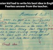 Best idea by a Russian kid…