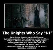The knights who say 'Ni'…