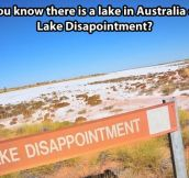 Lake Disappointment…