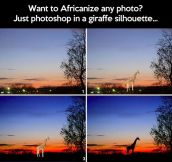 Africanizing photos…