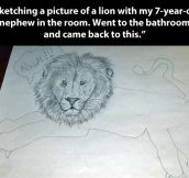 Drawing a lion…