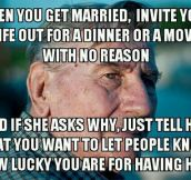 My grandpa said this today at breakfast. My grandma blushed…
