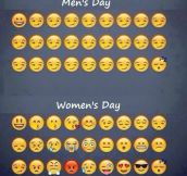 Men's day vs. women's day…