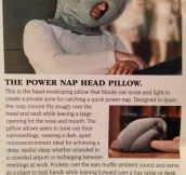 Nap head pillow…