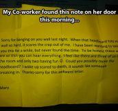 Awkward letter…