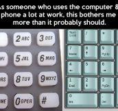 Numpad vs. dial pad…
