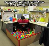 Birthday office decoration…