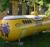 Painted propane tank…
