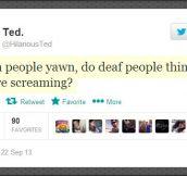 When people yawn…