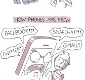 Cell phones then and now…