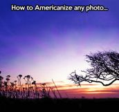 Americanizing a photography…