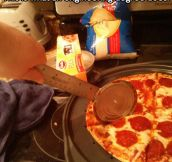 An engineer's pizza cutter…