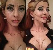 Pop art make up for Halloween…