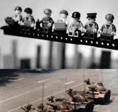 Historic photographs recreated in Lego…