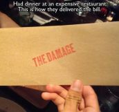 The damage…