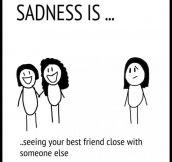 That moment of true sadness…