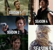 Daryl Dixon over the seasons…