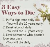 Easiest ways to die…