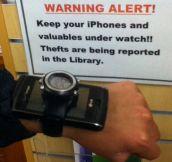 Warning alert. Valuables under watch…