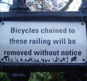No notice…