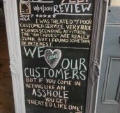 We love our costumers…