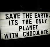 We have to save the earth…