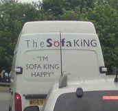 The Sofa King…