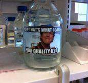 A chemistry teacher with a sense of humor…