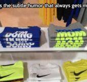 Subtle humor…