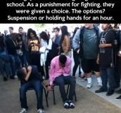 A brilliant form of punishment…